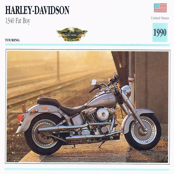 Harley-Davidson 1340 Fat Boy card