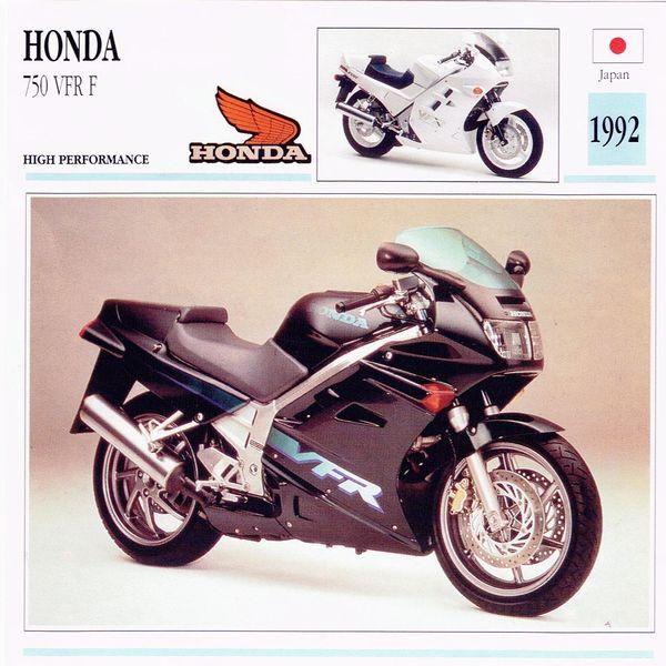 Honda 750 VFR F card
