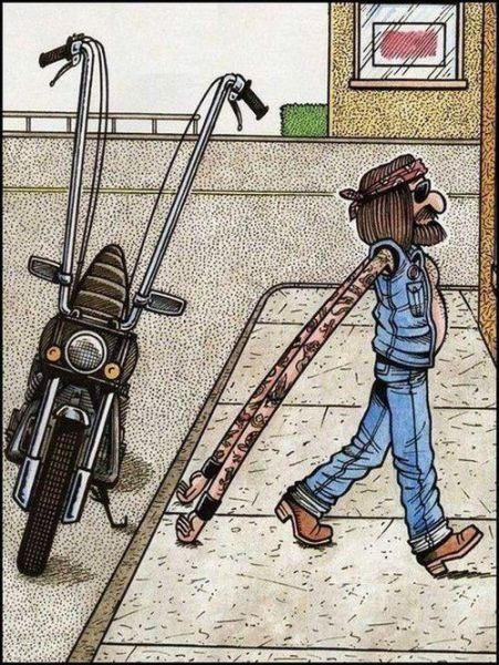 What I imagine every time I see ape hangers on a motorcycle