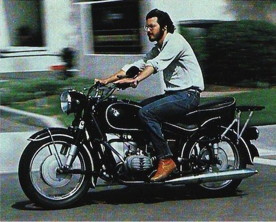 steve jobs motorcycle BMW 1966